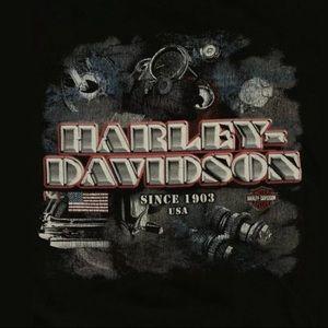 Harley Davidson Men's Black T-Shirt